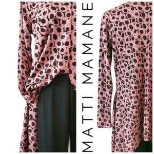 Matti Mamane Tunic Duster Made In Israel S/ M
